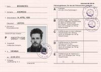 DDR Fahrerlaubnis ausdrucken